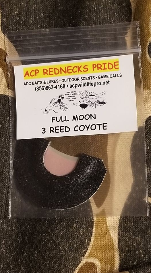 Full Moon 3-Reed Coyote diaphragm call